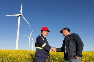 wind turbine workers