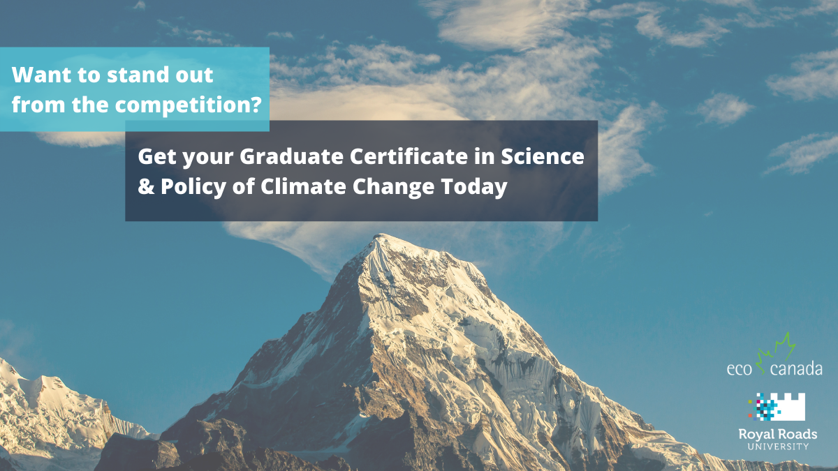 Royal Roads graduate certificate in the science and policy of climate change